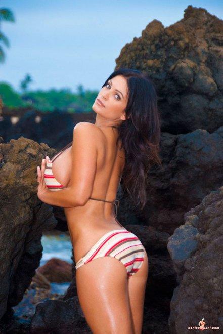 Топ модели на пляже порно